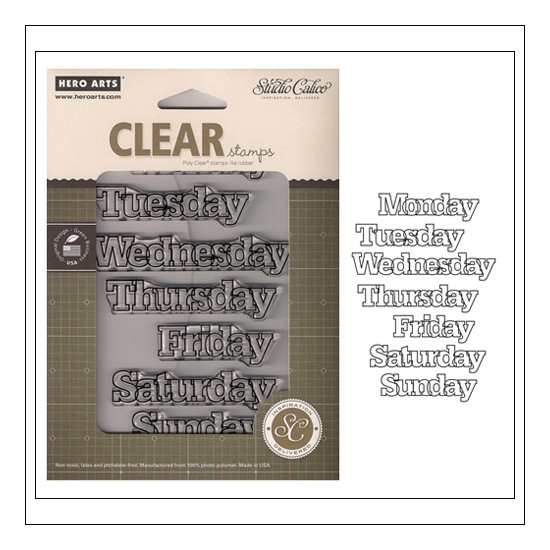 Studio Calico Clear Stamps Weekdays