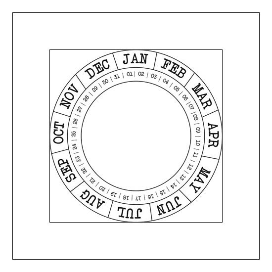 Studio Calico Cling Stamp Round Calendar