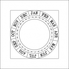 Studio Calico Cling Stamp Round Calendar