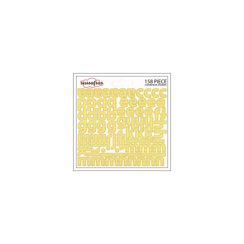 Sassafras Cardstock Stickers Yellow Paper