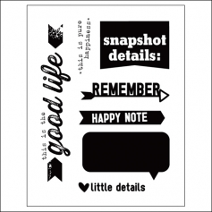 Elles Studio Clear Stamps Happy Note Everyday Moments Collection