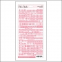 Elles Studio Letters and Numbers Stickers Pink