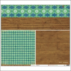Crate Paper Paper Sheet Ski Lodge Peppermint Collection