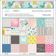 American Crafts Paper Pad 12x12 Polka Dot Party Collection by Dear Lizzy