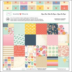 American Crafts Paper Pad 12x12 Lucky Charm Collection by Dear Lizzy