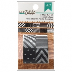 American Crafts Washi Tape Black and White DIY Shop Collection