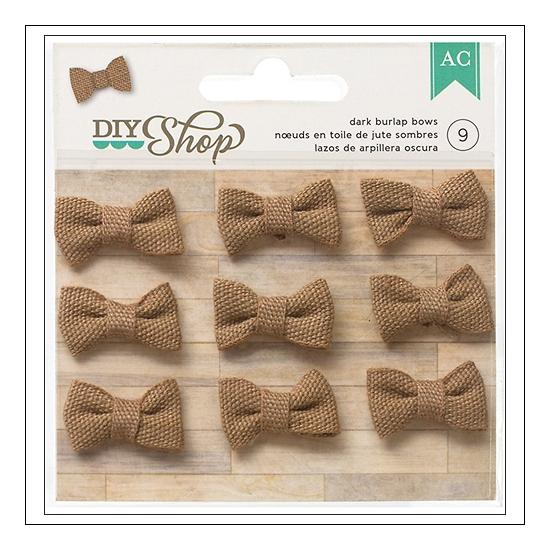 American Crafts Dark Burlap Bows DIY Shop Collection