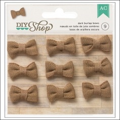 American Crafts Dark Burlap Bows DIY Shop Collection