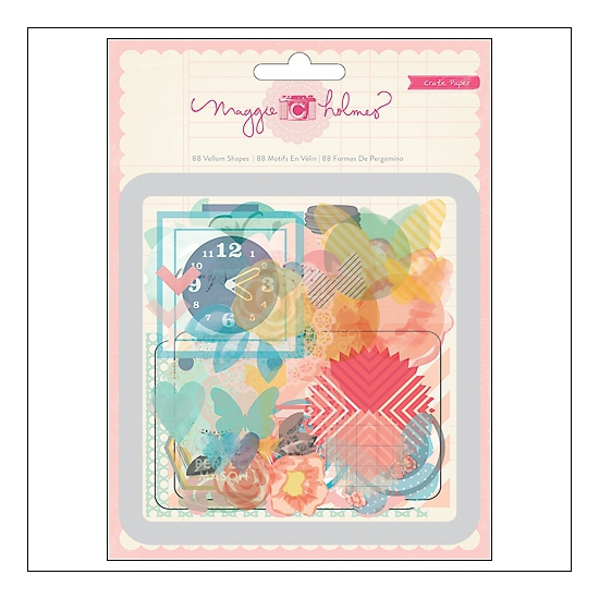 Crate Paper Vellum Shapes Styleboard Collection by Maggie Holmes
