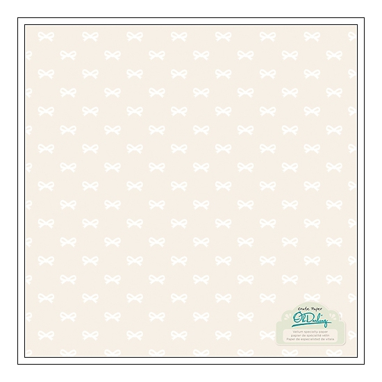 Crate Paper Printed Vellum Teal Bows Oh Darling Collection