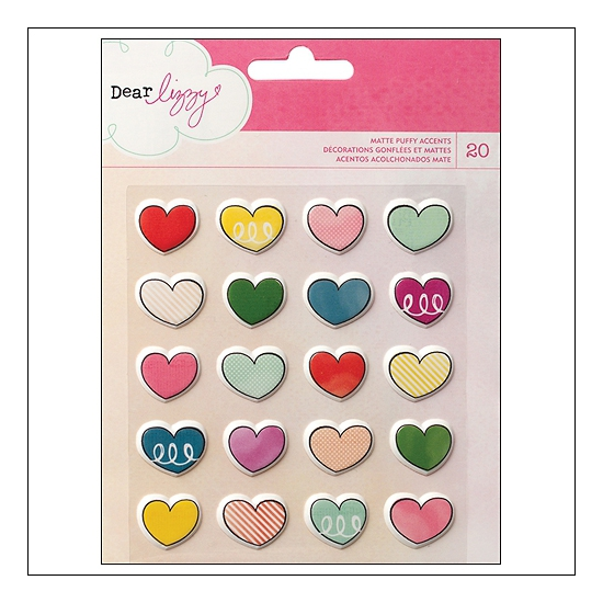American Crafts Matte Puffy Accent Stickers Daydreamer Collection by Dear Lizzy