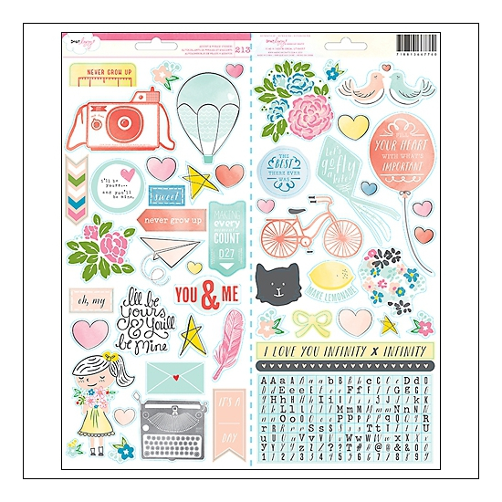 American Crafts Accent and Phrase Stickers Daydreamer Collection by Dear Lizzy
