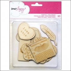 American Crafts Wood Veneer Shapes Daydreamer Collection by Dear Lizzy