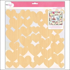 American Crafts Die Cut Wood Veneer Hearts Specialty Paper Daydreamer Collection by Dear Lizzy