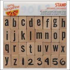 American Crafts Wooden Lowercase Alphabet Stamps Set Document Plus One Collection by Amy Tangerine