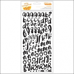 American Crafts Thicker Stickers Foam Black Kal Barteski Plus One Collection by Amy Tangerine