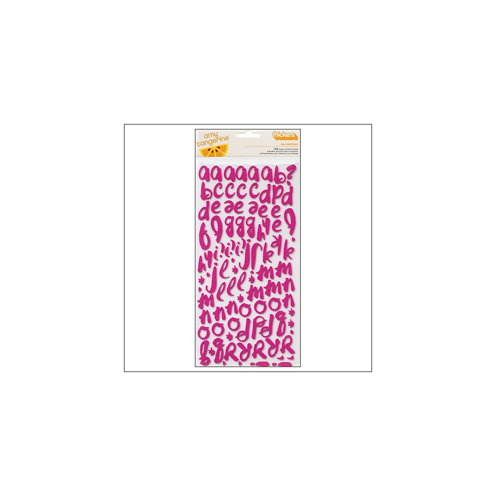American Crafts Thicker Stickers Foam Taffy Kal Barteski Plus One Collection by Amy Tangerine