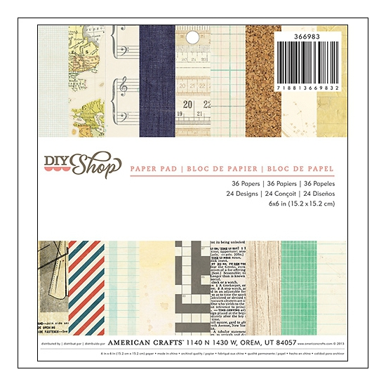 American Crafts Paper Pad 6x6 DIY Shop Collection