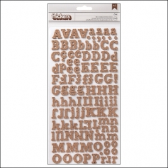 American Crafts Thicker Stickers Burlap Eric DIY Shop Collection