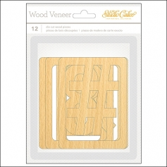 Studio Calico Wood Veneer Number Clips Wanderlust Collection