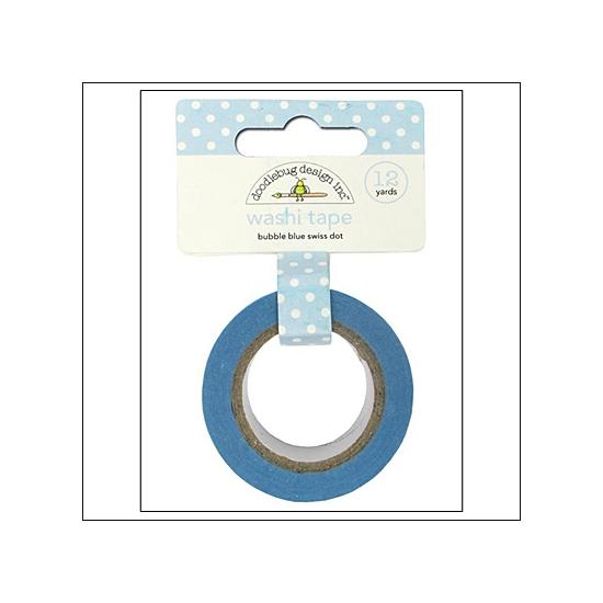 Doodlebug Washi Tape Swiss Dot Bubble Blue
