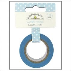 Doodlebug Washi Tape Swiss Dot Bubble Blue
