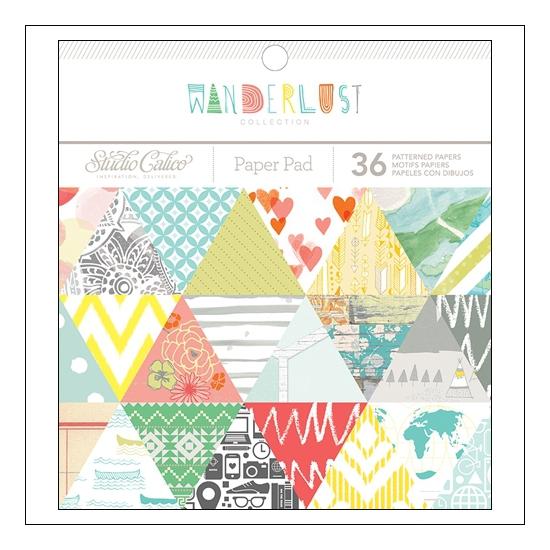 Studio Calico Paper Pad 6x6 Wanderlust Collection