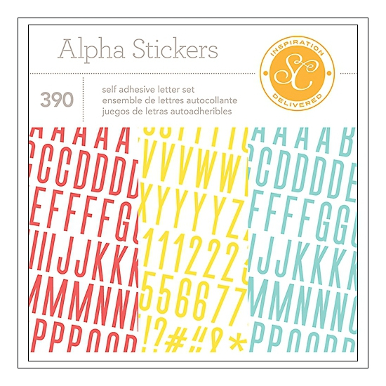 Studio Calico Alpha Stickers Booklet 4x6 Wanderlust Collection
