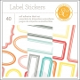 Studio Calico Label Stickers Booklet 4x6 Wanderlust Collection