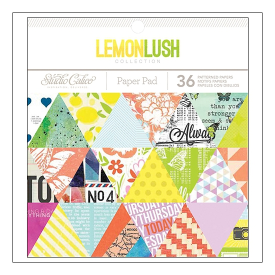 Studio Calico Paper Pad 6x6 Lemonlush Collection