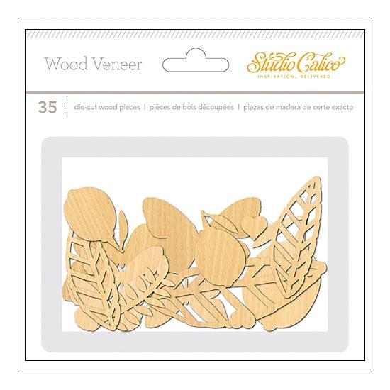 Studio Calico Wood Veneer Shapes Lemonlush Collection