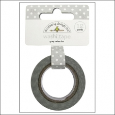 Doodlebug Washi Tape Swiss Dot Grey