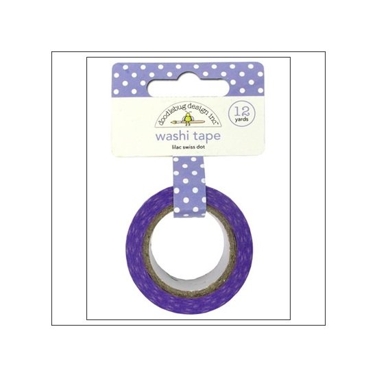 Doodlebug Washi Tape Swiss Dot Lilac