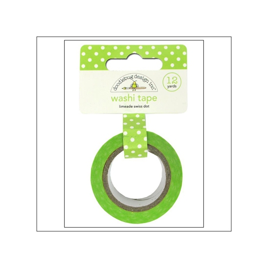 Doodlebug Washi Tape Swiss Dot Limeade