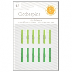 Studio Calico Clothespins Greens Essentials Collection