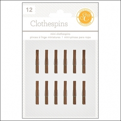 Studio Calico Clothespins Woodgrain Essentials Collection