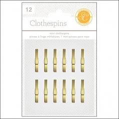 Studio Calico Clothespins Gold Essentials Collection