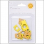 Studio Calico Chipboard Cameras Yellow and Orange Essentials Collection