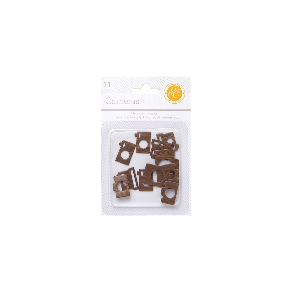 Studio Calico Chipboard Cameras Woodgrain Essentials Collection