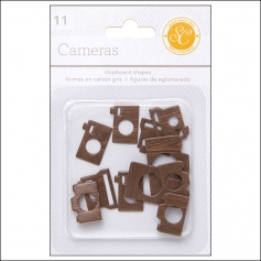 Studio Calico Chipboard Cameras Woodgrain Essentials Collection