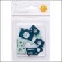 Studio Calico Chipboard Cameras Blue and Aqua Essentials Collection
