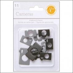 Studio Calico Chipboard Cameras Black and Grey Essentials Collection