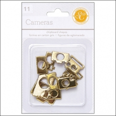 Studio Calico Chipboard Cameras Gold Essentials Collection