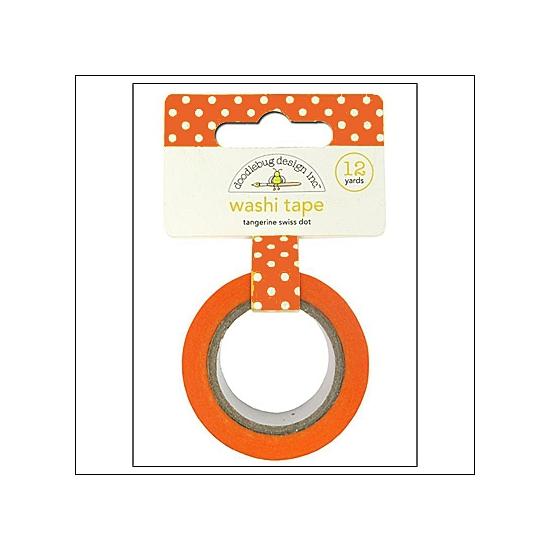 Doodlebug Washi Tape Swiss Dot Tangerine