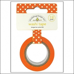 Doodlebug Washi Tape Swiss Dot Tangerine