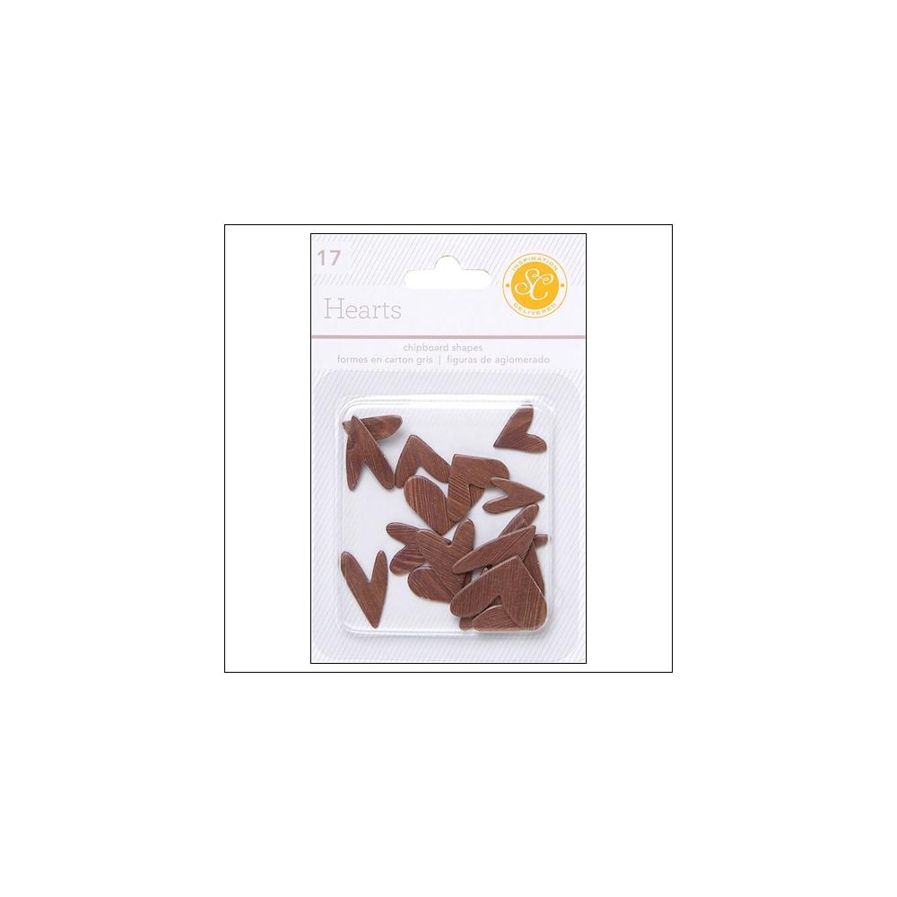 Studio Calico Chipboard Hearts Woodgrain Essentials Collection