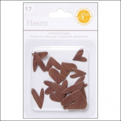 Studio Calico Chipboard Hearts Woodgrain Essentials Collection