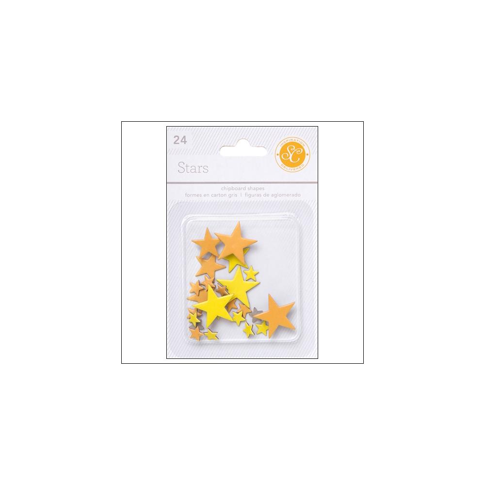 Studio Calico Chipboard Stars Yellow and Orange Essentials Collection