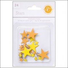 Studio Calico Chipboard Stars Yellow and Orange Essentials Collection