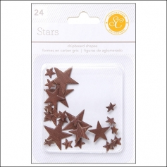 Studio Calico Chipboard Stars Woodgrain Essentials Collection